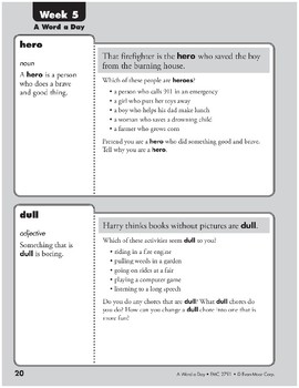 Week 05: here, dull, create, firm (A Word a Day)