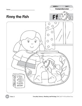 Week 06: Finny the Fish--Ff (Everyday Literacy, Reading & Writing)