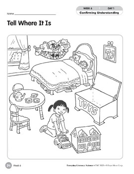 Week 06: Tell Where It Is (Everyday Literacy, Science)