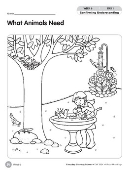 Week 06: What Animals Need (Everyday Literacy, Science)