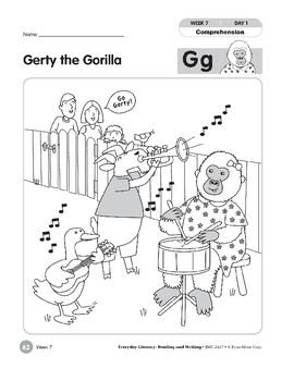 Week 07: Gerty the Gorilla--Gg (Everyday Literacy, Reading & Writing)