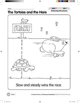 Week 07: The Tortoise and the Hare (Everyday Literacy, Listening & Speaking)