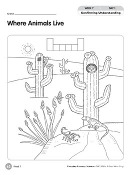 Week 07: Where Animals Live (Everyday Literacy, Science)