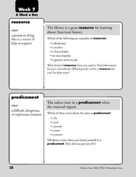 Week 07: resource, predicament, perplexed, unruly (A Word a Day)