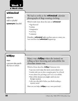 Week 07: whimsical, killjoy, versatile, convertible (A Word a Day)
