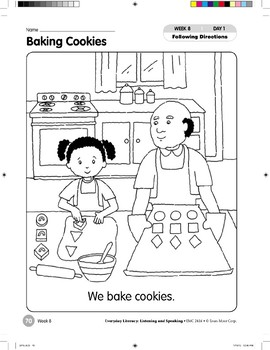 Week 08: Baking Cookies (Everyday Literacy, Listening & Speaking)