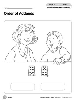 Week 08: Order of Addends (Everyday Literacy, Math)