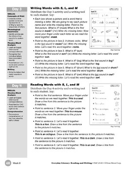 Week 08: Review It - Ss, Ll, Mm (Everyday Literacy, Reading & Writing)