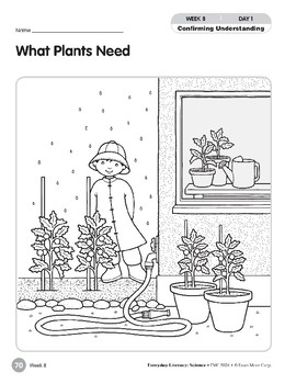 Week 08: What Plants Need (Everyday Literacy, Science)