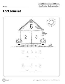 Week 09: Fact Families (Everyday Literacy, Math)