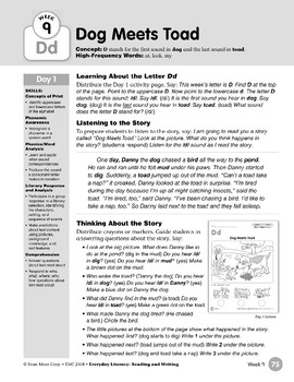 Week 09: Initial & Final Dd (Everyday Literacy, Reading & Writing)