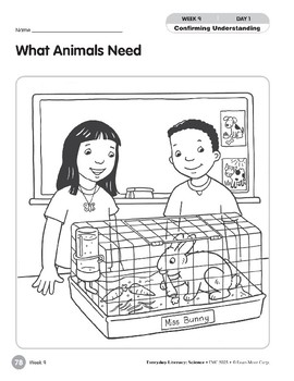 Week 09: What Animals Need (Everyday Literacy, Science)