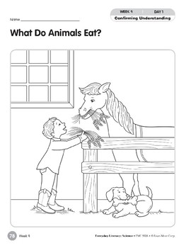 Week 09: What Do Animals Eat? (Everyday Literacy, Science)