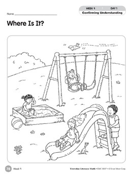 Week 09: Where Is It? (Everyday Literacy, Math)