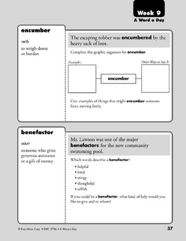 Week 09: sensitive, ambiguous, encumber, benefactor (A Word a Day)