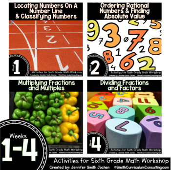 Week 1-4 of Sixth Grade Math Workshop Activities | Aligned to TEKS, CCSS & OAS