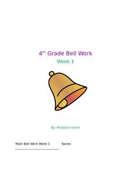 Week 1 4th Grade Bell Work- Math