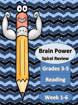 Week 1-6 Spiral Homework for Reading Grades 3-5