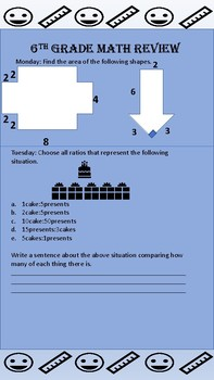 Week 1 6th Grade Second Semester Review Open Up Illustrative Math Spiral
