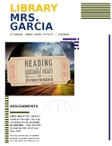 EDITABLE- Distance Learning- Library- 5th Grade