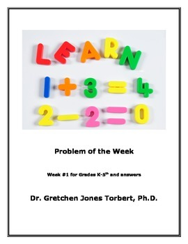 Week #1 POTW= Problem of the Week!