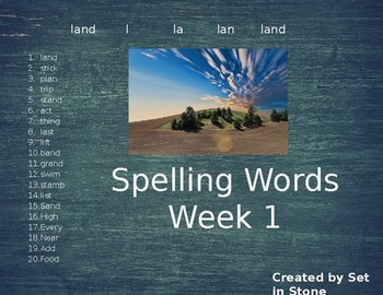 Week 1 Spelling Words