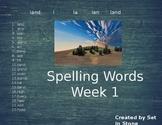 Week 1 Spelling Words