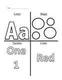 Week 1 of Pre-K (Letter A, Circles, Number 1, and the Color Red)
