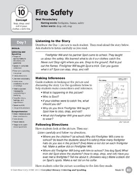 Week 10: Fire Safety (Everyday Literacy, Listening & Speaking)