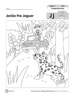 Week 10: Jackie the Jaguar--Jj (Everyday Literacy, Reading & Writing)