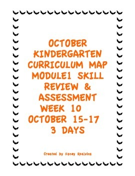 Week 10 Kindergarten Curriculum Aligned to Common Core Standards
