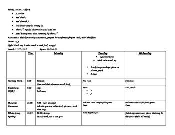 Week 10 Kindergarten HM Theme 2 Week 1, fall/apples,letters og, sight word see