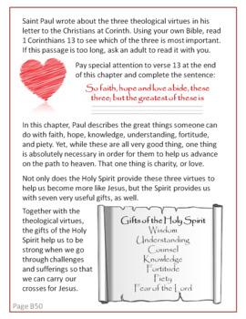 Week 10, St Joseph Baltimore Catechism I Worksheets, Lesson Plan, Answer Key