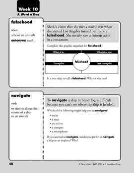 Week 10: falsehood, navigate, kindling, domestic (A Word a Day)