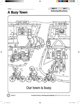 Week 11: A Busy Town (Everyday Literacy, Listening & Speaking)