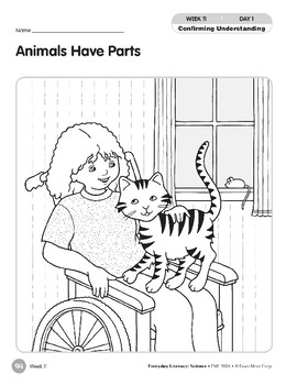 Week 11: Animals Have Parts (Everyday Literacy, Science)