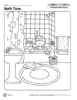 Week 11: Bath Time (Everyday Literacy, Listening & Speaking)