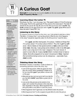 Week 11: Initial & Final Tt (Everyday Literacy, Reading & Writing)