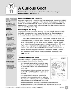 Week 11: Initial & Final Tt (Everyday Literacy, Reading & Writing)
