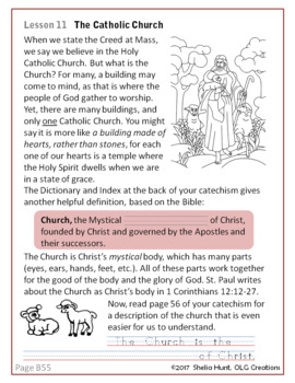 Week 11, St Joseph Baltimore Catechism I, Lesson Plans, Worksheets & Answer Key