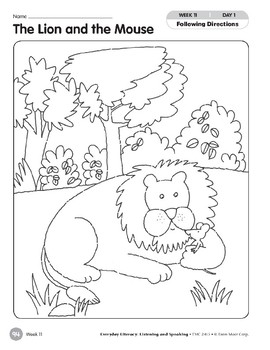 Week 11: The Lion and the Mouse (Everyday Literacy, Listening & Speaking)