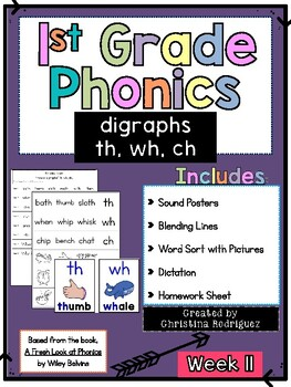 Week 11 - th, wh, ch - 1st Grade Phonics