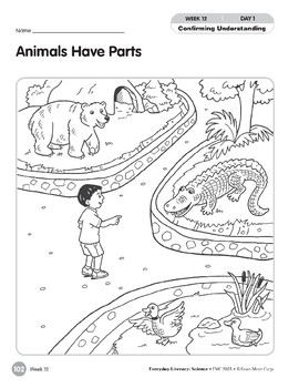 Week 12: Animals Have Parts (Everyday Literacy, Science)