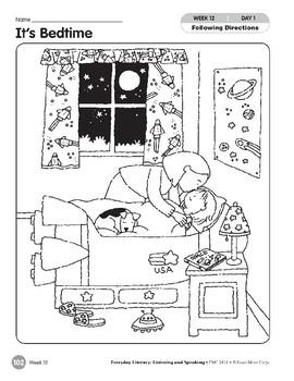 Week 12: It's Bedtime (Everyday Literacy, Listening & Speaking)