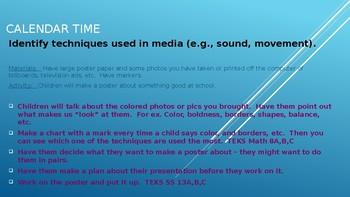 Week #12  Kindergarten Lesson Plans:  Reading/Media Literacy.
