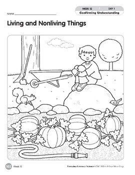 Week 12: Living and Nonliving Things (Everyday Literacy, Science)
