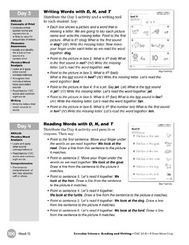 Week 12: Review It - Dd, Nn, Tt (Everyday Literacy, Reading & Writing)