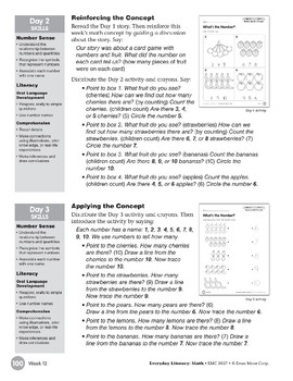Week 12: What's the Number? (Everyday Literacy, Math)