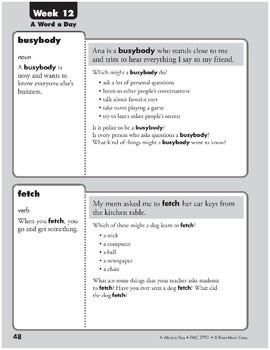 Week 12: busybody, fetch, regret, splendid (A Word a Day)