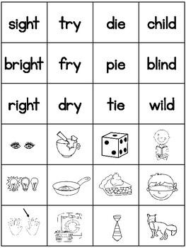Week 12 - long i (igh, y, ie, i_ _) - 2nd Grade Phonics